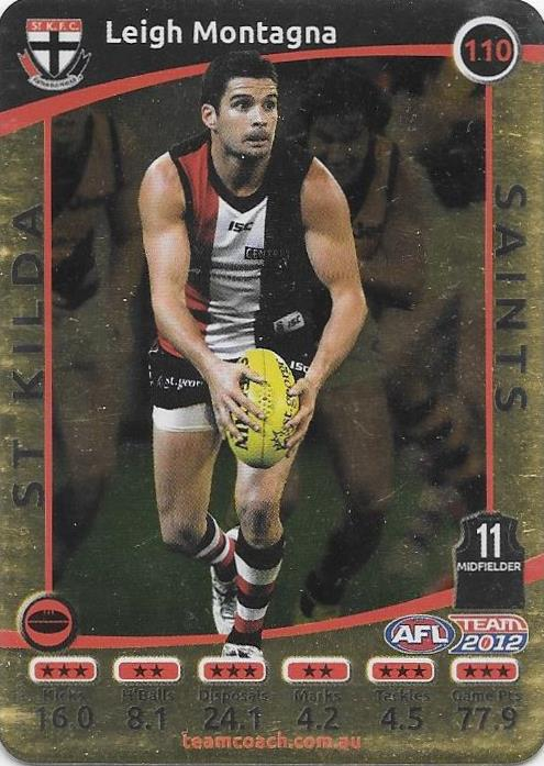 Leigh Montagna, Gold, 2012 Teamcoach AFL