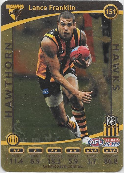 Lance Franklin, Gold, 2012 Teamcoach AFL