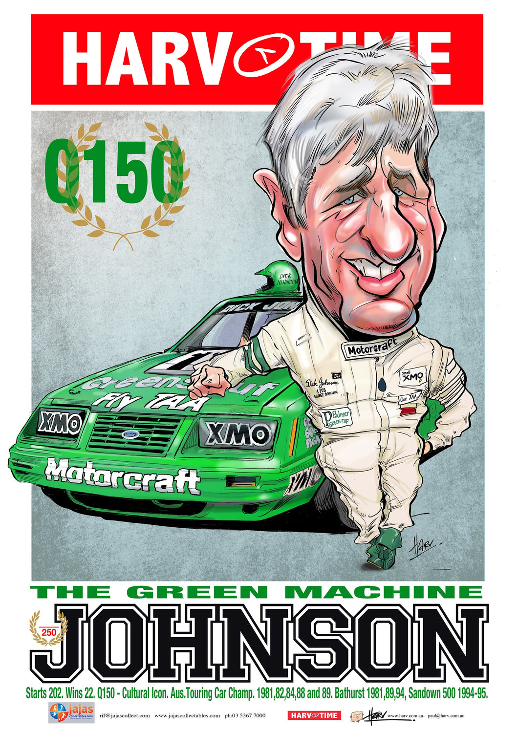 Dick Johnston, The Green Machine, Harv Time Poster