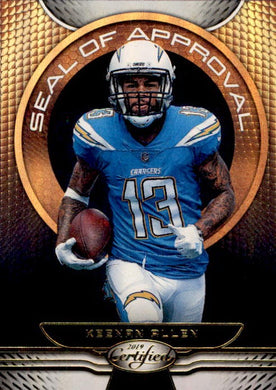Keenan Allen, Seal of Approval, Gold Team, 2019 Panini Certified Football NFL