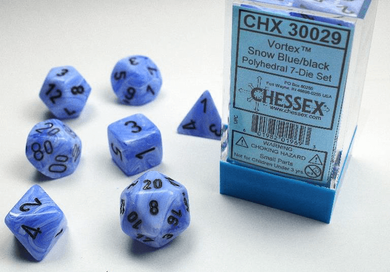 CHX 30029 Vortex Snow Blue with Black 7-Die Set