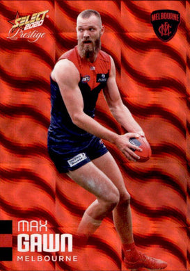 Max Gawn, Red Parallel, 2020 Select AFL PRESTIGE Footy Stars