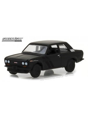 1968 Datsun 510, Black Bandit, 1:64 Diecast Vehicle
