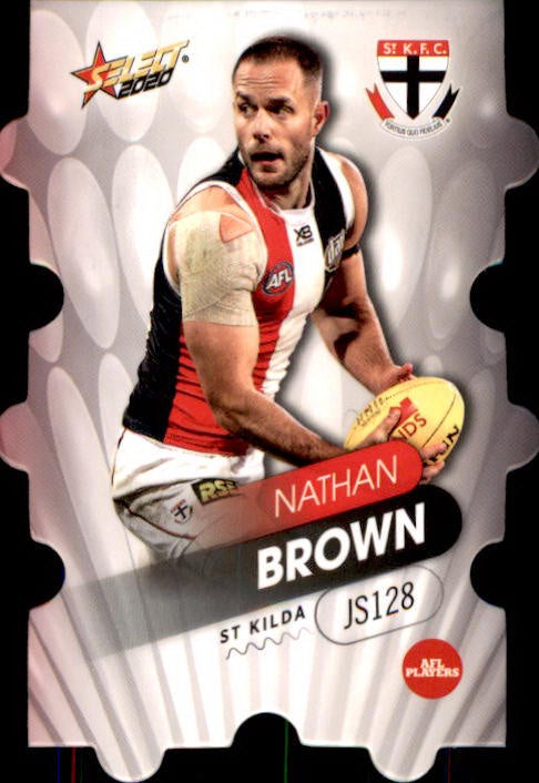 JS128 Nathan Brown, Jigsaw, 2020 Select AFL Footy Stars