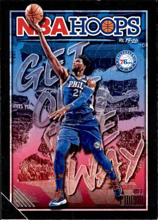 Joel Embiid, Get Out The Way, 2019-20 Panini Hoops Basketball NBA