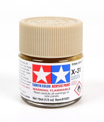 TAMIYA ACRYLIC MINI X-31 TITANIUM GOLD 10ml