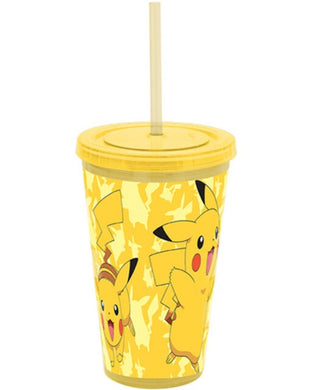 Pokemon Pikachu Timbler with Straw.