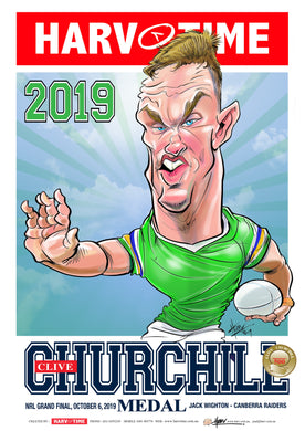 Jack Wighton, 2019 Churchill Medal, Harv Time Poster