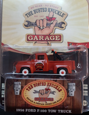 1956 Ford F-100 Tow Truck BKG Parts & Service, Busted Knuckle Garage, 1:64 Diecast Vehicle