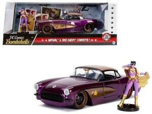 DC Bombshells - Batgirl 1957 Chevy Corvette, 1:24 Scale Diecast with Figure Hollywood Rides