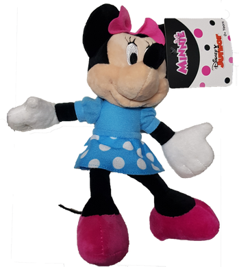 Disney Junior Minnie Mouse with Blue Dotty Dress Small Plush Toy