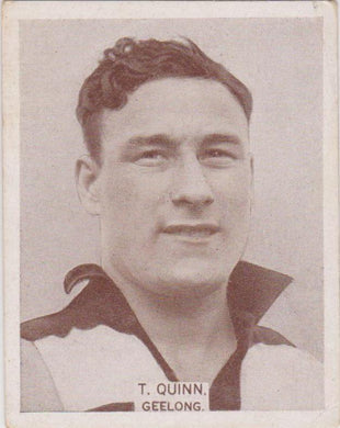 T Quinn, 1933 Wills Cigarettes Large, Footballers