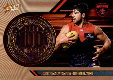 Christian Petracca, 100 Games Milestone, 2021 Select AFL Footy Stars