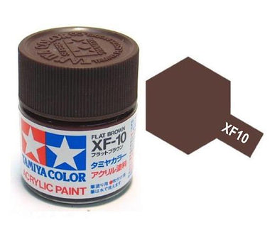 TAMIYA ACRYLIC MINI XF-10 FLAT BROWN 10ml