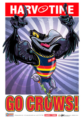 Adelaide Crows, Mascot Print Harv Time Poster (2021)