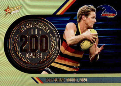 Rory Sloane, 200 Games Milestone, 2021 Select AFL Footy Stars