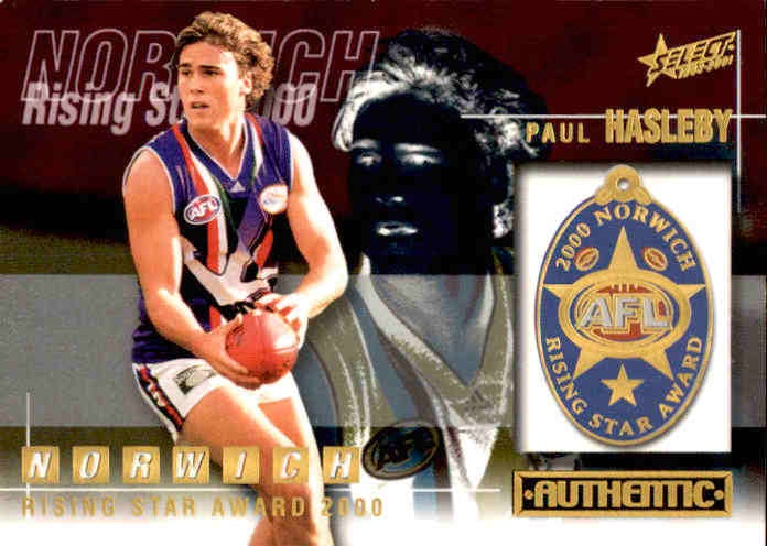 Paul Hasleby, Rising Star, 2001 Select AFL Authentic