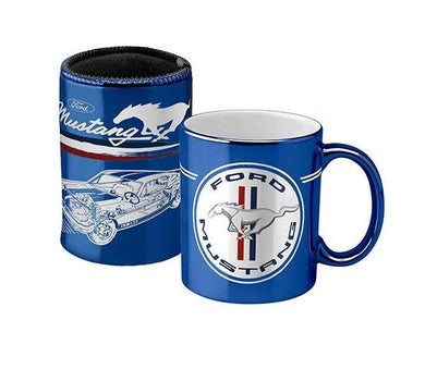 FORD MUSTANG METALLIC CAN COOLER AND MUG PACK
