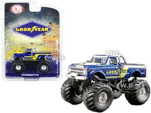 Goodyear 1970 Chevrolet K-10 Monster Truck, 1:64 Diecast Vehicle