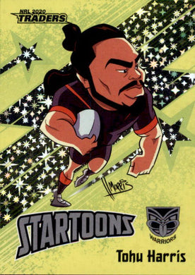 Tohu Harris, Yellow Startoons, 2020 TLA Traders NRL 51/150