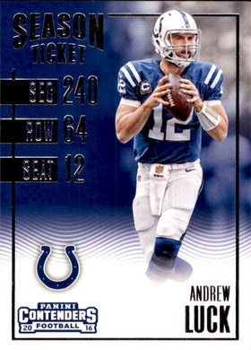 Andrew Luck, 2016 Panini Contenders Football NFL