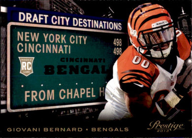 Giovani Bernard, RC, Destinations, 2012 Panini Prestige Football NFL