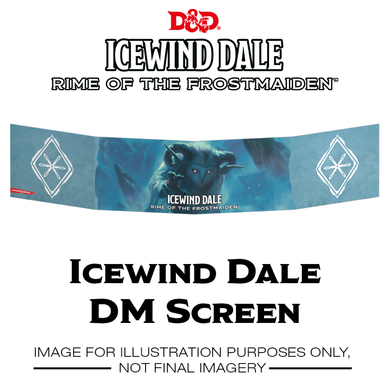 D&D Dungeons & Dragons Icewind Dale Rime of the Frostmaiden DM Screen
