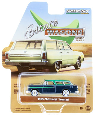Green Machine 1955 Chevrolet Nomad, Estate Wagons, 1:64 Diecast Vehicle