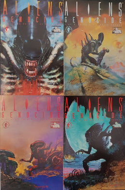 Aliens Genocide Comic Set of 4. #1, #2, #3 & #4.