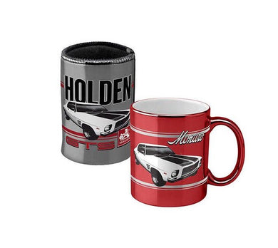 HOLDEN MONARO METALLIC CAN COOLER AND MUG PACK