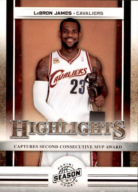 Lebron James, Highlights, 2009-10 Panini Season Update NBA Basketball