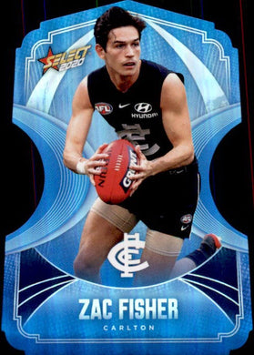 Zac Fisher, Ice Blue Diecuts, 2020 Select AFL Footy Stars