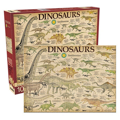 Smithsonian Dinosaurs 1000 Piece Jigsaw Puzzle by Aquarius
