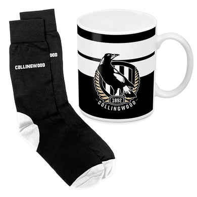 Collingwood Magpies Mug and Sock Gift Pack