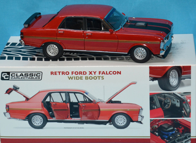 Classic Carlectables Retro Ford XY Falcon Wide Boots, 1:18 Scale Diecast Vehicle