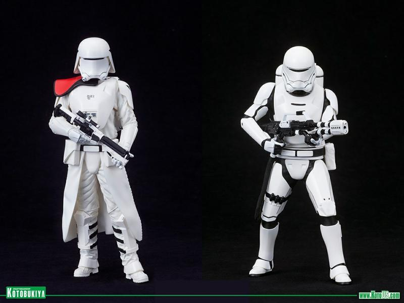 STAR WARS THE FORCE AWAKENS FIRST ORDER SNOWTROOPER & FLAMETROOPER TWO PACK ARTFX+ STATUES BY KOTOBUKIYA