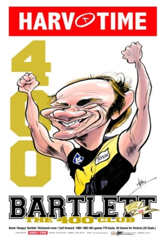Kevin Bartlett, 400 Club, Harv Time Poster