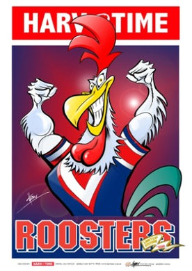 Sydney Roosters, NRL Mascot Harv Time Poster