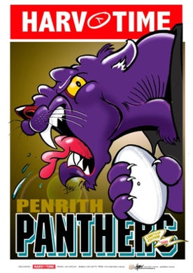 Penrith Panthers, NRL Mascot Harv Time Poster