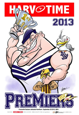 Fremantle Dockers, 2013 Premiers, Harv Time Poster