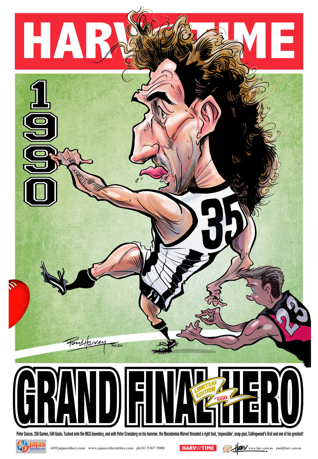 Peter Daicos, Grand Final Hero Harv Time Poster