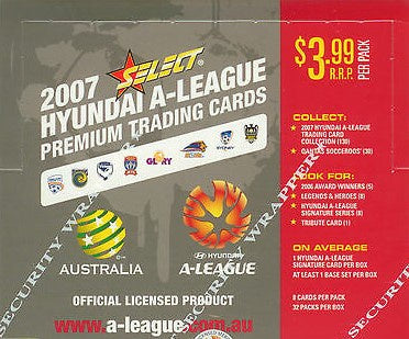 2007 Select Hyundai A-League Soccer Sealed Box