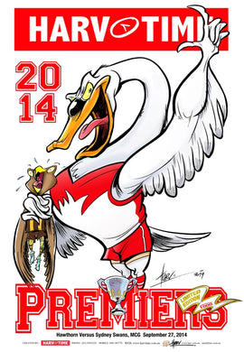 Sydney Swans, 2014 Premiers, Harv Time Poster