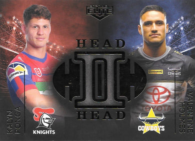 Kalyn Ponga, Valentine Holmes, Head to Head Case Card, 2020 TLA Elite NRL