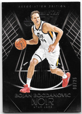 Bojan Bogdanovic, Association Edition, 2019-20 Panini Noir Basketball NBA