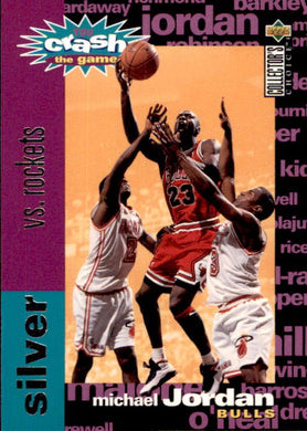 Michael Jordan, Silver Crash the Game, C1, 1995-96 UD Collectors Choice Basketball NBA