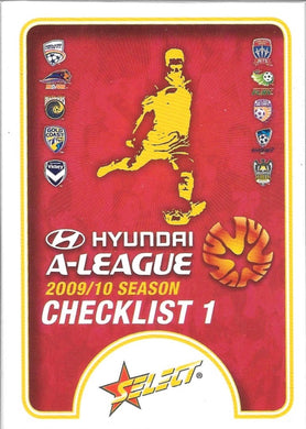 2009-10 Select A-League Soccer Base Set of121 cards