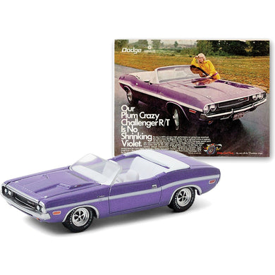 1970 Dodge Challenger R/T HEMI Convertible, Vintage Ad Cars, 1:64 Diecast Vehicle