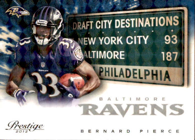 Bernard Pierce, RC, Destinations /100, 2012 Panini Prestige Football NFL