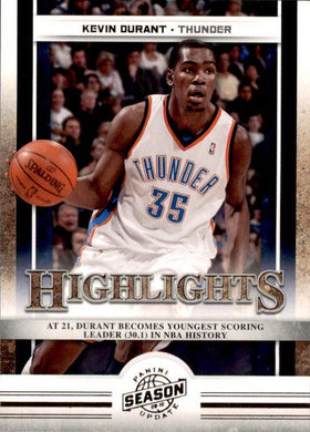 Kevin Durant, Highlights, 2009-10 Panini Season Update NBA Basketball #4